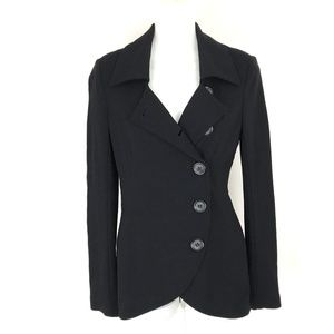 Bailey 44 asymmetrical button knit jacket blazer